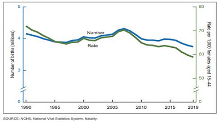 Live births and fertility rates